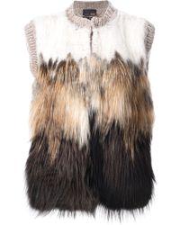 Fendi Furry Gilet - Lyst