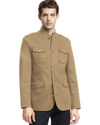 Kenneth Cole Reaction Neru Button Front Jacket - Natural