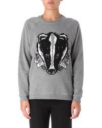 Mulberry Badger Sweatshirt - Grey