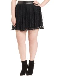 Jessica Simpson Lace Pleated Aline - Lyst