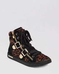 Vince Camuto Lace Up Sneakers Umily Buckle - Black