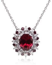 Carat* | Scarlet Oval Cluster Pendant with Chain | Lyst