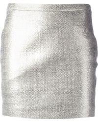 JOSEPH Nikki Laminated Skirt - Grey
