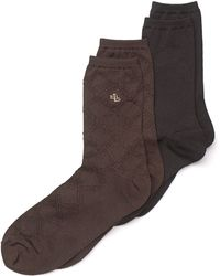 Ralph Lauren Blue Label - Big Diamond Trouser Socks 2 Pack - Lyst
