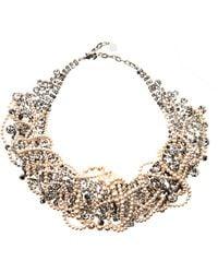 Tom Binns Grande Dame Pearl Crystal Necklace - White