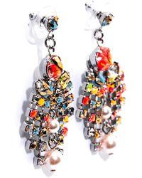Tom Binns - Quiet Riot Crystal Pearl Earrings - Lyst
