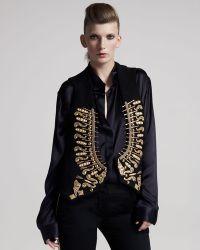 Balmain Embellished Vest - Lyst