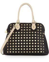 Betsey Johnson Yours Mine Ours Dome Satchel Bag In Black