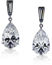 Carat* - 3ct Baguette Pear Drop Earrings - Lyst