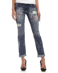 Fade To Blue Best Friend Distressed Jeans - Lyst