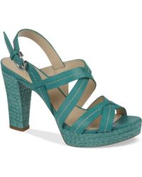 Franco Sarto Indira Platform Sandals - Blue