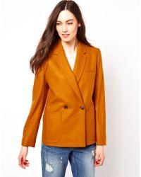 Three Floor French Connection Wool Blazer - Orange
