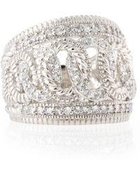 Judith Ripka White Sapphire Chainlink Ring - Lyst