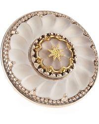 Konstantino - Iris Crystal Flower Ring - Lyst