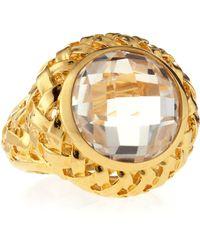 Slane - Crystal Quartz Basket-Weave Medium Ring - Lyst