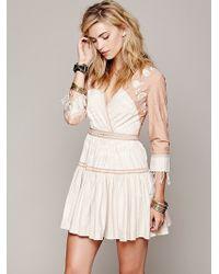 Free People Fp New Romantics Lovers Lane Ikat Dress - Lyst