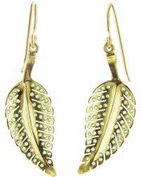 Jennifer Meyer Emerald Leaf Earrings - Green