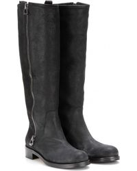 Jimmy Choo Doreen Texturedleather Knee Boots - Lyst
