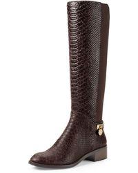 MICHAEL Michael Kors Hamilton Snake Embossed Knee Boot - Lyst