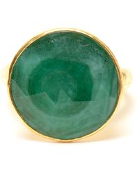 Ram - Hammered 22k Gold and Emerald Ring - Lyst
