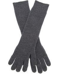 Acne Studios Lucida Merino Ribbed Gloves - Gray