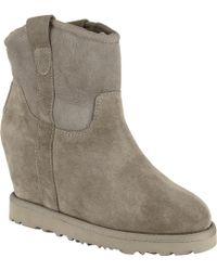 Ash - Yahoo Nubuck Concealed Wedge Heel Ankle Boots - Lyst