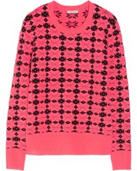 Emma Cook Neon Patterned Knitted Sweater - Pink