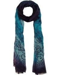 Emma J Shipley - Blue Amazon Print Chiffon Scarf - Lyst