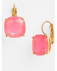 Kate Spade Drop Earrings - Flo Pink/ Gold - Lyst