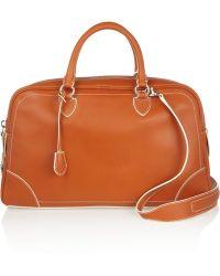 Marc Jacobs Venetia Leather Bowling Bag - Orange