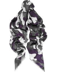 Christopher Kane - Camouflage-print Modal and Cashmere-blend Scarf - Lyst