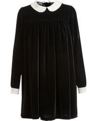 Meadham Kirchhoff Velvet Babydoll Dress - Black