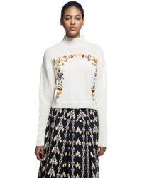 Suno Neck Sweater - Lyst