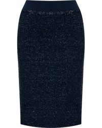 Topshop Lurex Pencil Skirt - Lyst