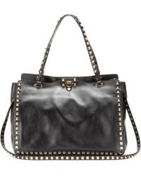 Valentino Rockstud Leather Tote - Lyst