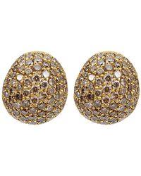 Yossi Harari Small Cognac Diamond Roxanne Earrings - Lyst