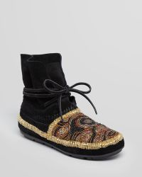 House of Harlow 1960 - Moccasin Booties Mallory Beaded - Lyst