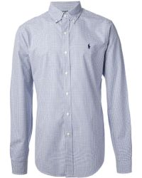 Polo Ralph Lauren Blue Check Shirt - Lyst