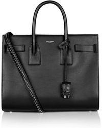 Saint Laurent Small Studded Sac De Jour Bag - Black