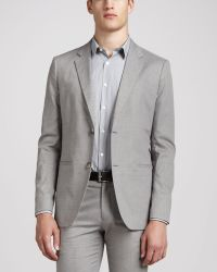 Theory Textured Twobutton Jacket Gray - Lyst