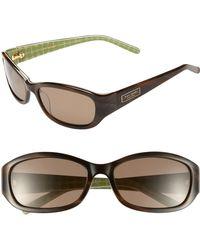 Kate Spade Kate Spade 'Dee' Two-Tone 54Mm Sunglasses - Horn/ Green Noel - Lyst