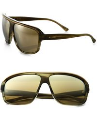 Givenchy Stripe Oversized Shield Square Sunglasses - Lyst