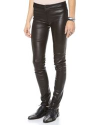 Graham & Spencer - Stretch Leather Pants - Lyst