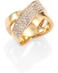 Michael Kors PavÉ Crisscross Ring/Goldtone - Lyst