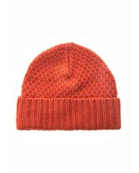 Oliver Spencer   Mossknit Beanie Hat   Lyst