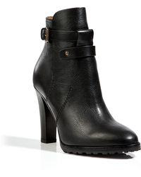 Ralph Lauren Collection Leather Monira Ankle Boots in Black - Lyst