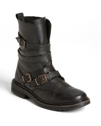 Topshop Gray Arrested Boot - Lyst