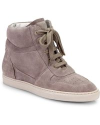 Common Projects - Woman Basketball Suede Wedge Sneakers - Lyst