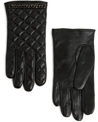 Mango Touch Quilted Leather Gloves - Lyst