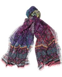 Matthew Williamson Ombre Butterfly Modal and Cashmereblend Scarf - Lyst